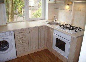 На фото - кухонный стол из подоконника ПВХ, dombyt.blogspot.com
