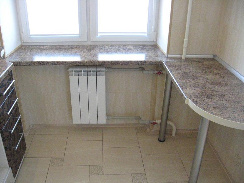Стол-подоконник на кухне - как оборудовать помещение? + в....