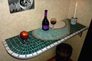 Фото столешницы из керамической плитки, livemaster.ru