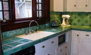 Фото столешницы из итальянской керамической плитки, remontbp.com