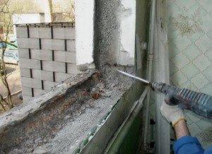 Фото подготовки стен к установке подоконника, oknaektb.ru