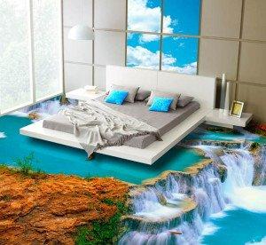 На фото - наливной пол с 3D-рисунком, potolki-ru.ru