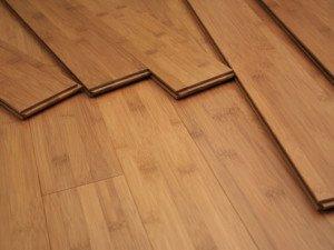 На фото - напольное покрытие из бамбука, 1tbc.com