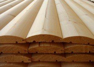 На фото - деревянный блок-хаус с системой шип-паз, stroy17.com.ua