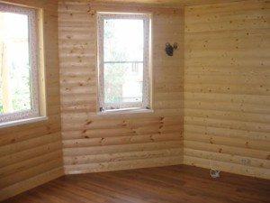 Фото внутренней отделки деревянного дома блок-хаусом, saw-wood.ru