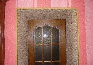 Фото дверных откосов из пробковых панелей, vopole.ru