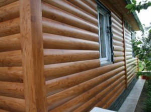 На фото - фасадные панели металлического блок-хауса, mastera-fasada.ru