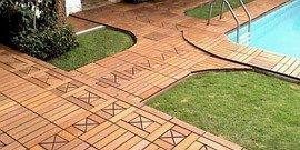 Садовый паркет – прочная дорожка и садовое украшение