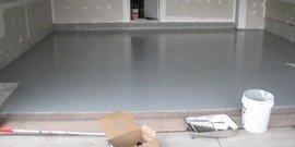 Наливной пол для гаража – идеальный и выносливый монолит