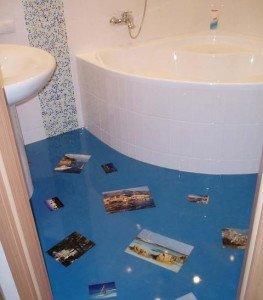 Фото полиуретанового наливного пола в ванной, studvitamin.ru