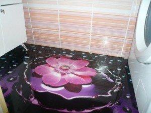 Фото полиуретанового пола в ванной, vnutrotdelka.ru
