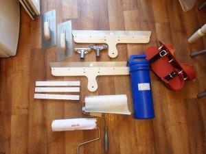 Фото инструментов для устройства теплого наливного пола,  pol-comfort.ru