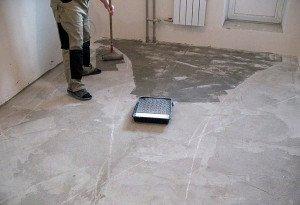 Фото грунтовки бетонного основания под наливной пол, pol-comfort.ru
