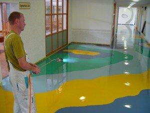 На фото - полиуретановый наливной пол, lukra.com.ua
