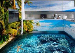 Декоративный наливной пол и стены – 3D-технология