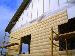 Фото стыковки панелей блок-хауса в оконных проемах, build-experts.ru