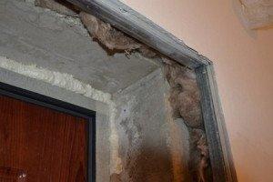 Фото металлических профилей для гипсокартона на откосах входной двери, vakyla.su