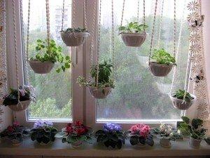 На фото - цветы на пластиковом подоконнике, liveinternet.ru