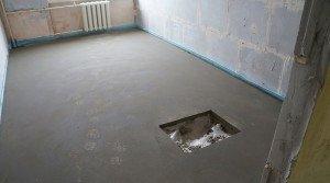 Фото бетонной основы пола в квартире, sovstroy.ru