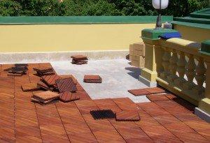Фото укладки садового паркета, pol-master.com