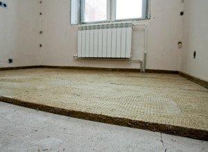 На фото - звукоизоляция пола, supersadovnik.ru