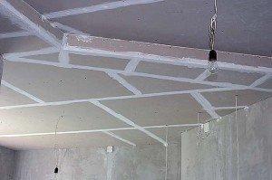 Фото обшивки потолка гипсокартоном, izgipsy.ru