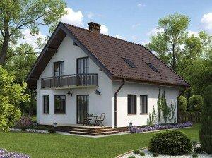 Щипцовая и полувальмовая двухскатная крыша с мансардой