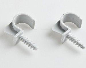 На фото - крепежные элементы для гофрированных труб электропроводки, mer.by