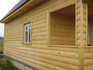 На фото - блок-хаус имитация бруса, древ-строй.рф
