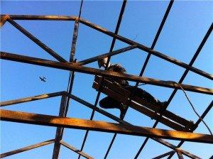 Фото металлического каркаса крыши, forumhouse.ru