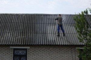 Фото мойки и обезжиривания шифера, novakrovlya.ru