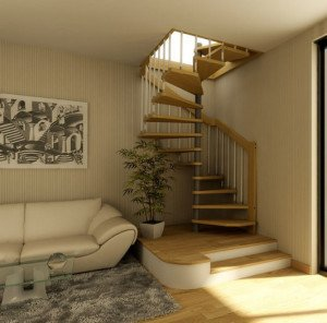 Фото винтовой лестницы на мансарду, domvspb.ru