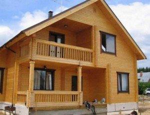 Балкон-лоджия во фронтоне, встроенный вариант