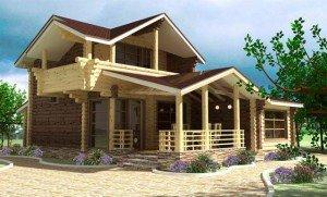 Балкон-лоджия во фронтоне, встроенный вариант фото