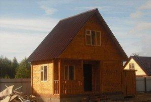 Дачный домик 6х4 с мансардой – маленькая усадьба