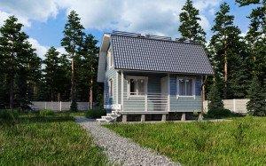 Маленькие дачные домики с мансардой – продумываем планировку