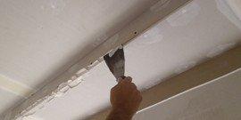 Шпаклевка потолка – видео и подробная инструкция к действию
