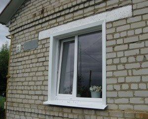 Фото наружных откосов окна из пластиковых уголков, avito.ru