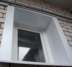Фото внешних откосов окна из сэндвич-панелей, otkosi.org