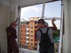 Фото установки окон из металлопластика, plastikom.pl.ua