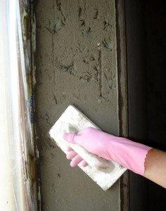 Фото оштукатуривания оконных откосов пластикового окна, ellwin.ru