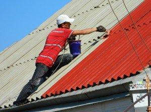 На фото - покраска шиферной крыши, roof-tops.ru