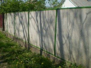Фото забора из плоского шифера, novakrovlya.ru