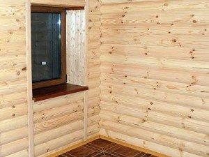 Фото установки блок-хауса в углах, tdecologica.ru