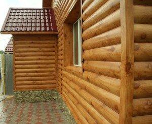 Фото наружной отделки фасада блок-хаусом, skmagnat.ru