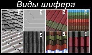 Фото видов шифера, kryshikrovli.ru