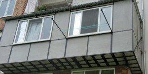 Фото отделки балкона плоским шифером, kbr-catalog.ru