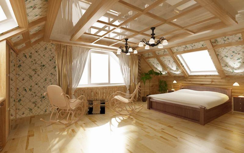 Отделка мансардных комнат фото