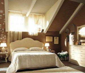 Какой может быть отделка спальни на мансарде? фото
