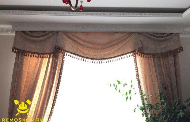 Готовая ниша для штор